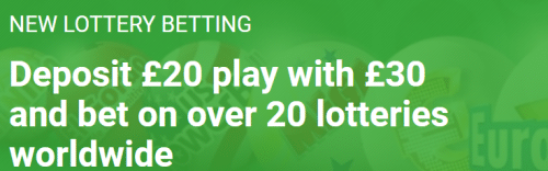Unibet lottery betting promotion