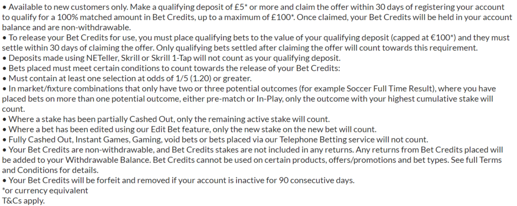bet365 bonus code terms for canadian