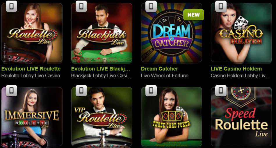 come on live casino games