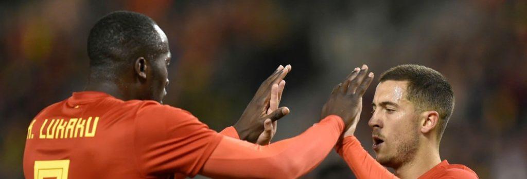 Romelu Lukaku and Eden Hazard