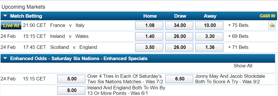 william hill rugby markets