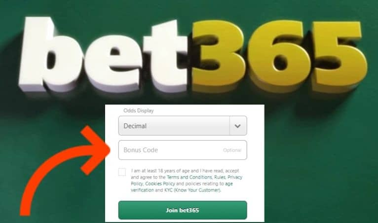 Bet365 Sign-up bonus code
