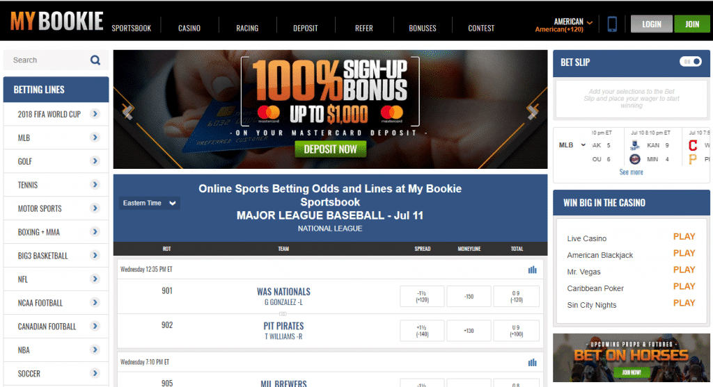 MyBookie Promo Code 2019: Get up to $1020