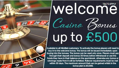 mintbet casino bonus
