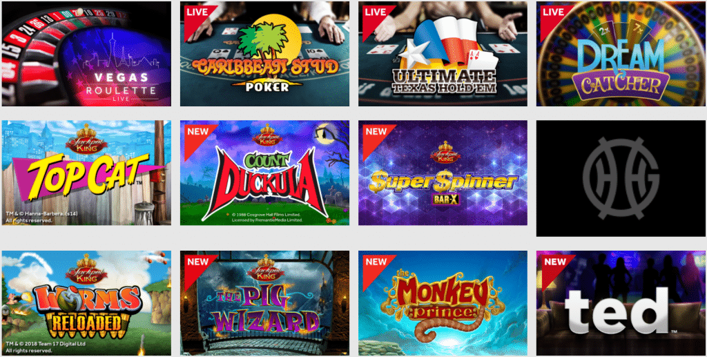 available games on GentingCasino.com