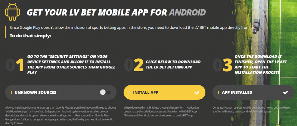LV BET mobile android
