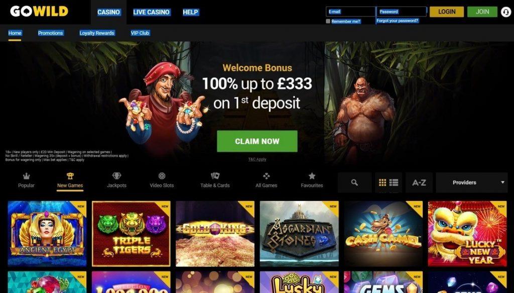Go Wild Casino Promo Code 2019: Type GOMAX