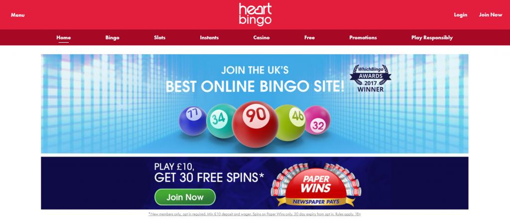 heart bingo promotions