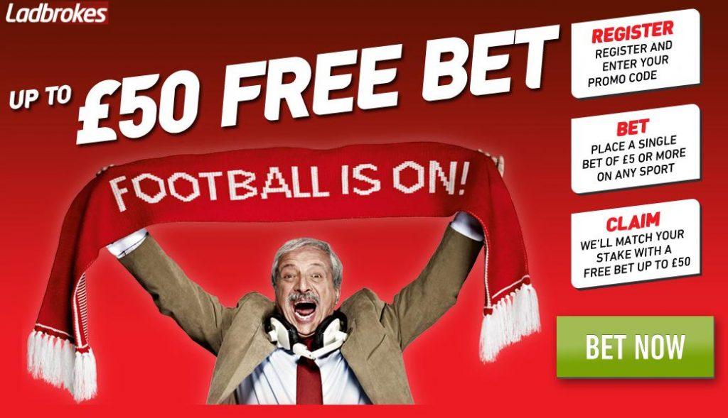 Ladbrokes Free Bet Offer