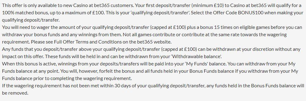 casino bonus terms