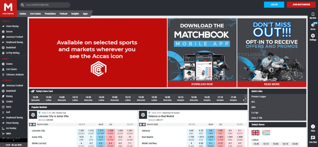 Matchbook Bonus Code for the year 2020 - CASHMATCH