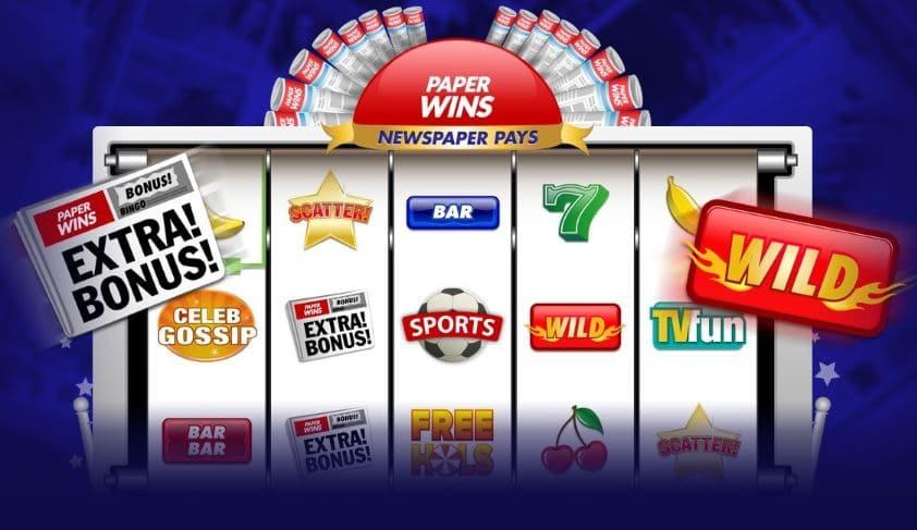 jackpotjoy paper wins slot game