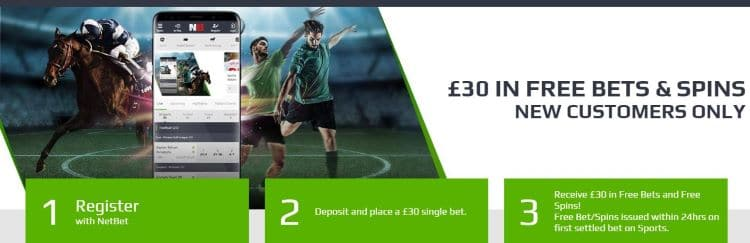 Netbet sports sign up offer